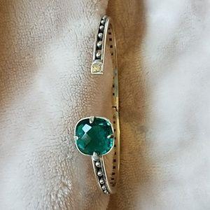 Brighton Lovable Hinged Bangle Green Crystal